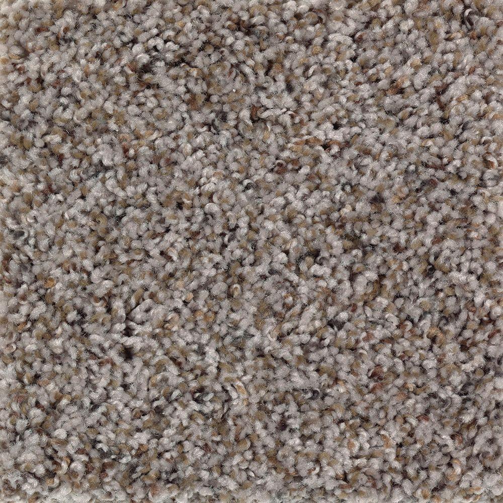 Timberwolf I - Color Mineral Grey Texture 12 ft. Carpet