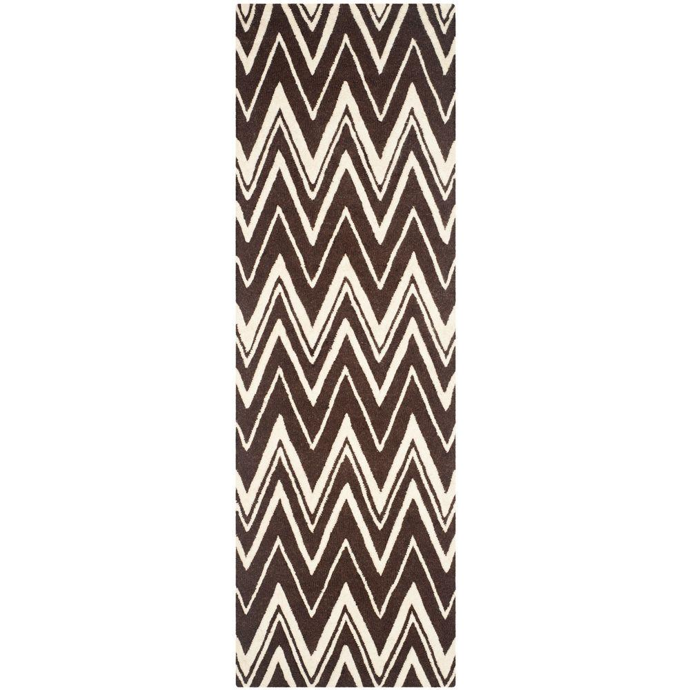 Cambridge Brown/Ivory 2 ft. 6 in. x 8 ft. Runner