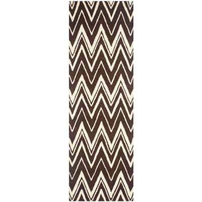 Cambridge Brown/Ivory 3 ft. x 8 ft. Runner Rug