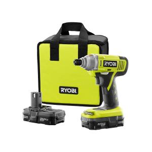 18-Volt ONE+ Lithium-Ion Cordless 1/4 in. Impact Driver Kit with (2) 1.3 Ah Batteries, Dual Chemistry Charger, Tool Bag