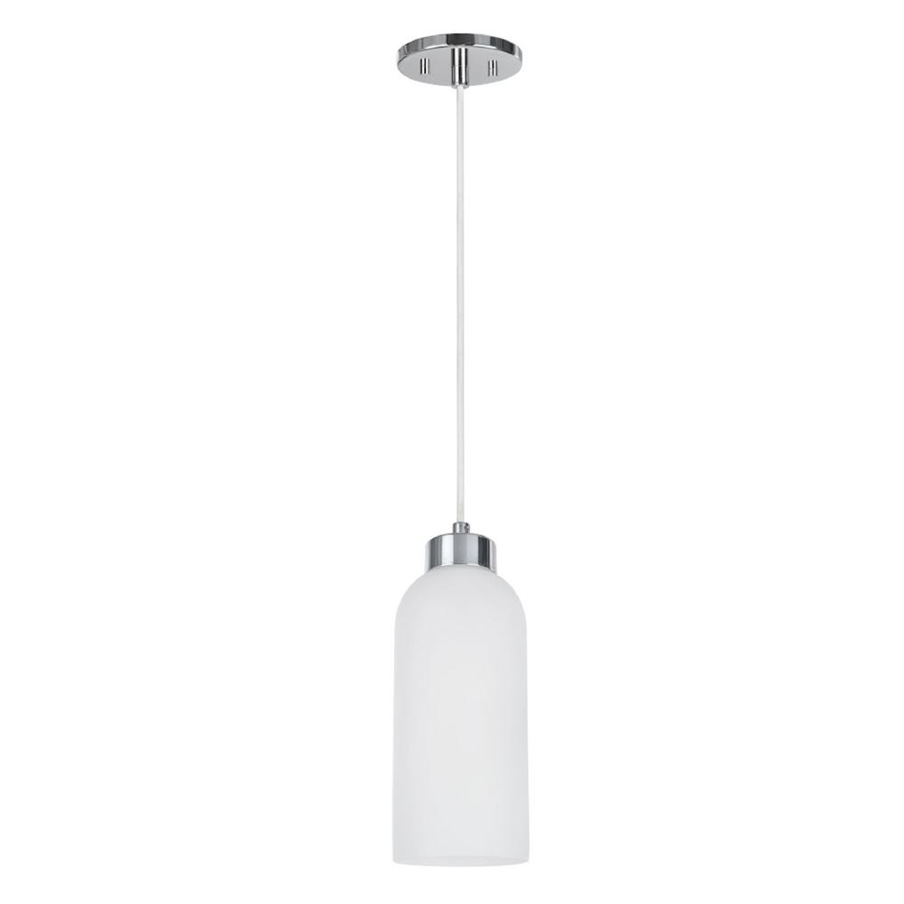 Tech Lighting Aspen: Aspen Creative Corporation 1-Light Chrome Mini Pendant