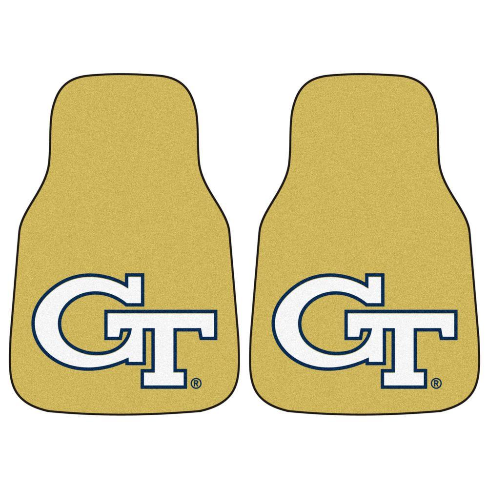 Georgia Tech 18 in. x 27 in. 2-Piece Carpeted Car Mat
