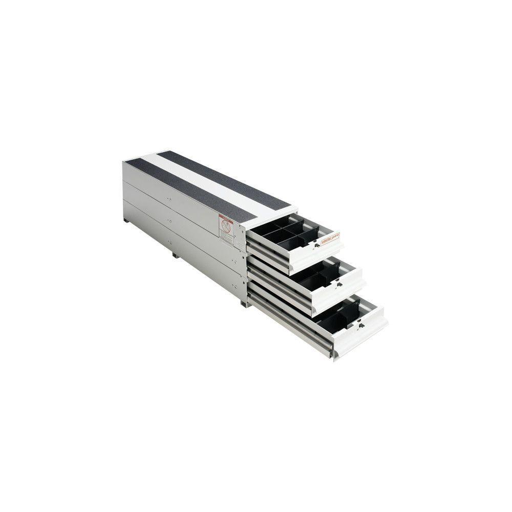 12.25 in. Aluminum Stacked Itemizer Van Drawer Unit in Brite White