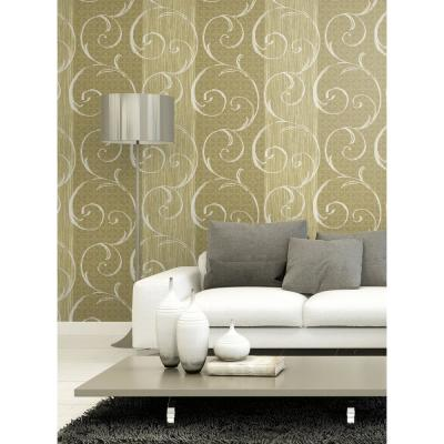 Notting Hill Gray and White Swirl Wallpaper