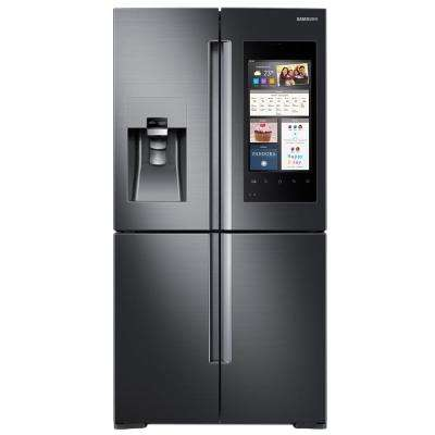 27.9 cu. ft. Family Hub 4-Door Flex French Door Refrigerator in Black Stainless Steel
