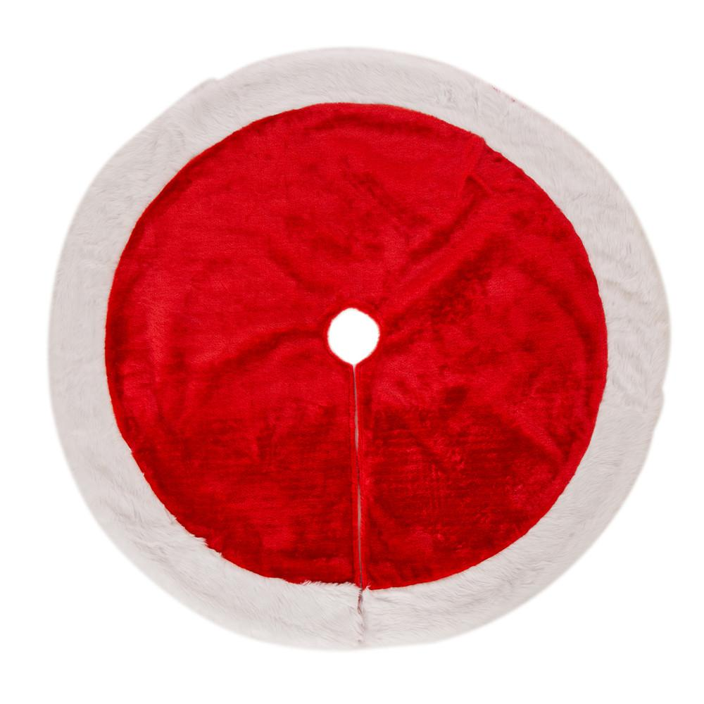 48 in. D Plush Christmas Tree Skirt