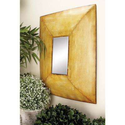 3 Assorted 20 in. x 16 in. Streaked Rectangular Framed Wall Mirrors