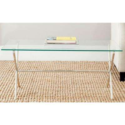 Brogen Silver and Clear Coffee Table