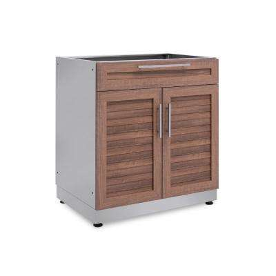 Natural Cherry 32 in. Bar 32 in. W x 36.5 in. H x 24 in. D Outdoor Kitchen Cabinet