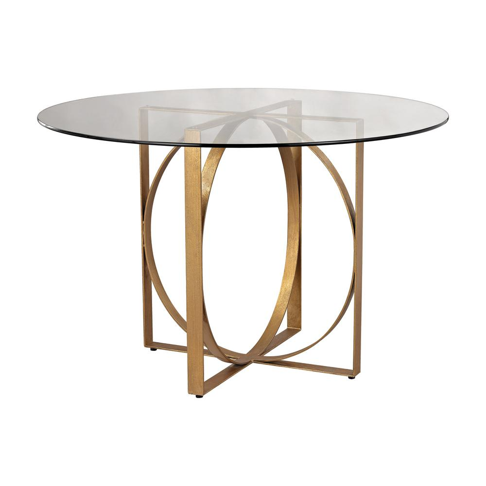 Gold accent tables living room furniture the home depot box rings gold leaf entry table geotapseo Choice Image