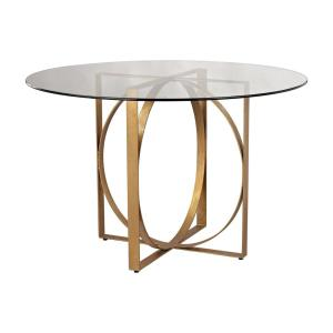Box Rings Gold Leaf Entry Table