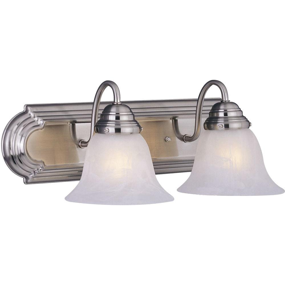 Maxim Lighting Essentials 2 Light Satin Nickel Bath Vanity