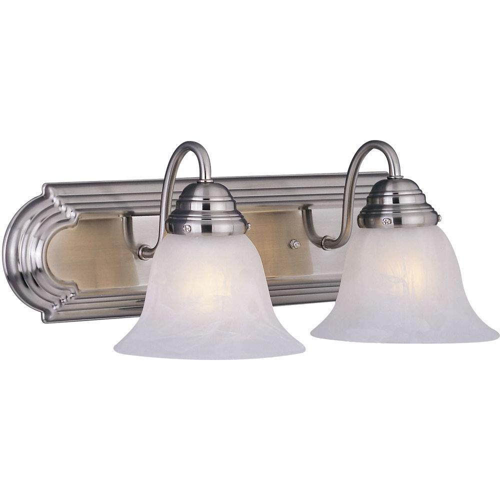 Essentials 2-Light Satin Nickel Bath Vanity Light