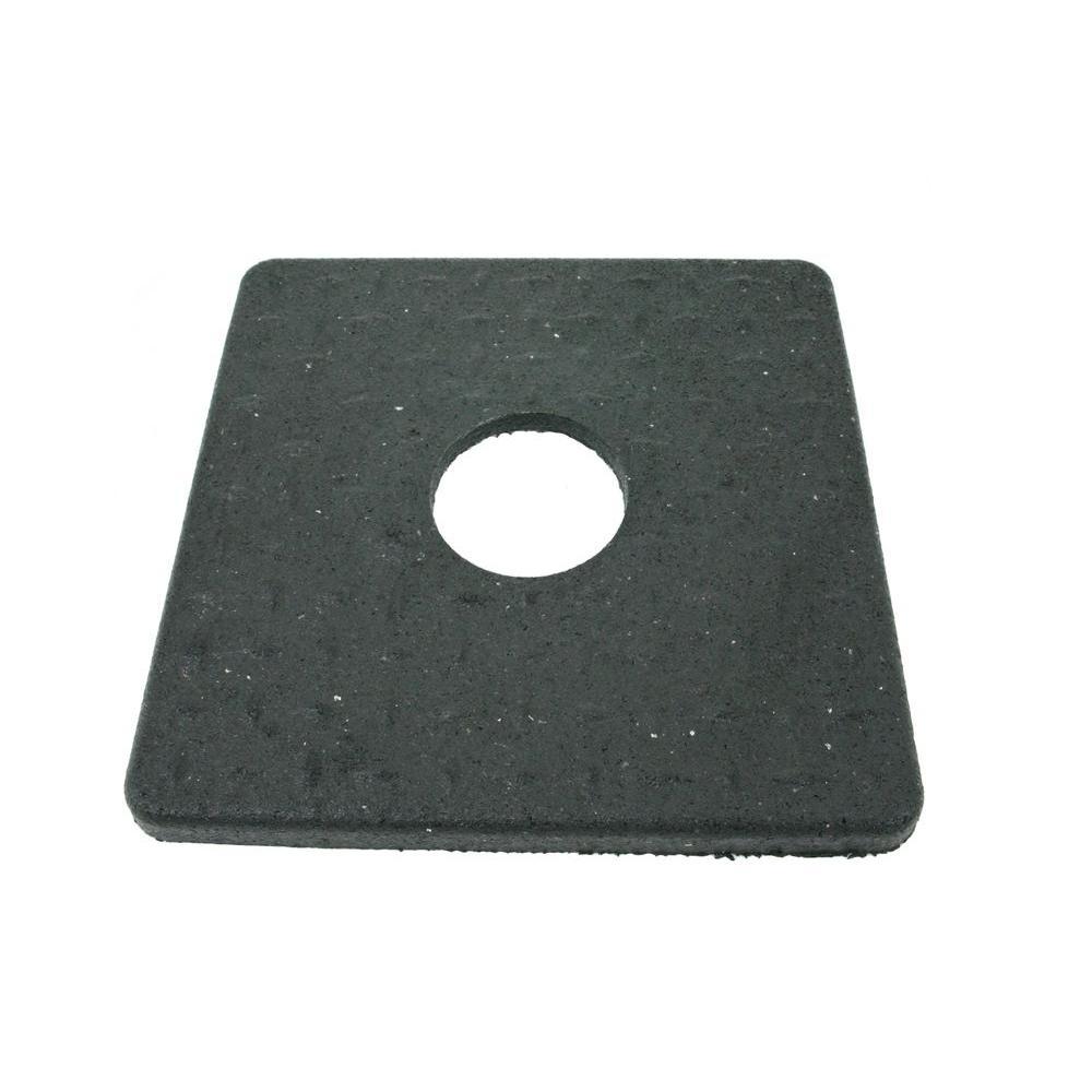 8 lb. Black Rubber Square Delineator Base
