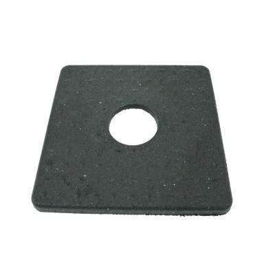 8 lb. Black Rubber Square Delineator Base