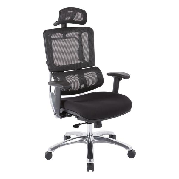 Office Star Products Black Mesh Vertical Back Office Chair 99662CHRB-30