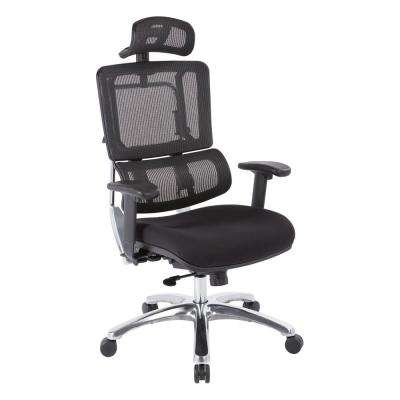 Black Mesh Vertical Back Office Chair