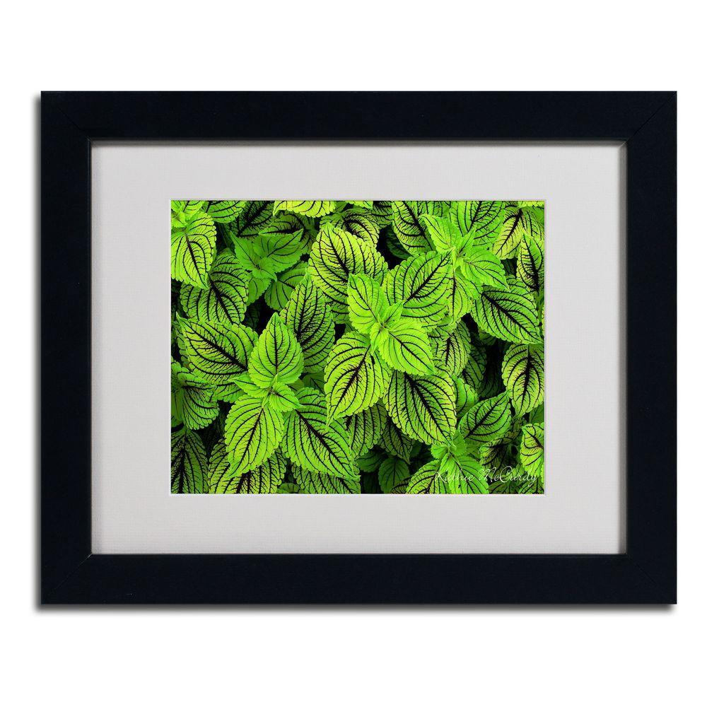 11 in. x 14 in. Coleus Matted Framed Art