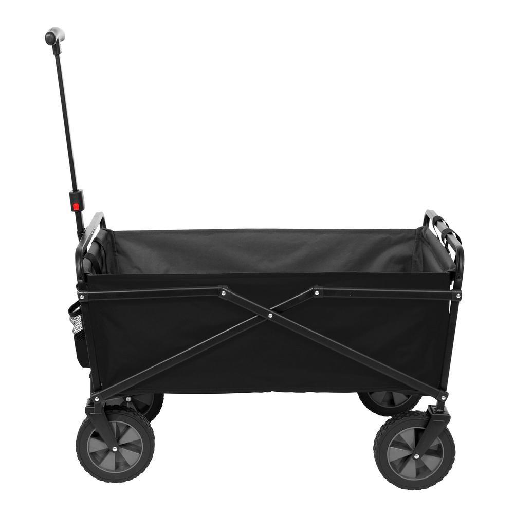 SEINA 150 lbs. Capacity Manual Heavy-Duty Folding Utility Cart in Black/Gray