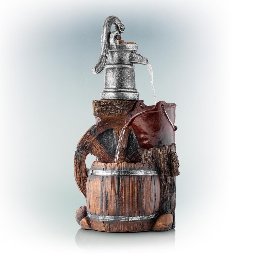 24 in. Old Fashion Pump Barrel Fountain
