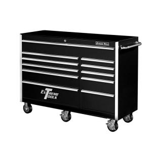 Click here to buy Extreme Tools 56 inch 11-Drawer Standard Roller Cabinet Tool Chest in Black by Extreme Tools.