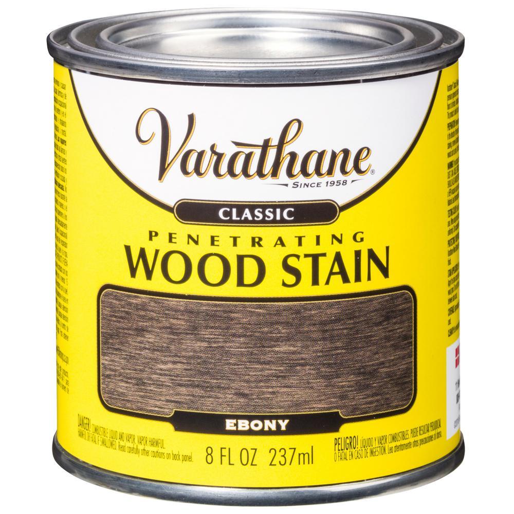 8 oz. Ebony Classic Wood Interior Stain (4-Pack)