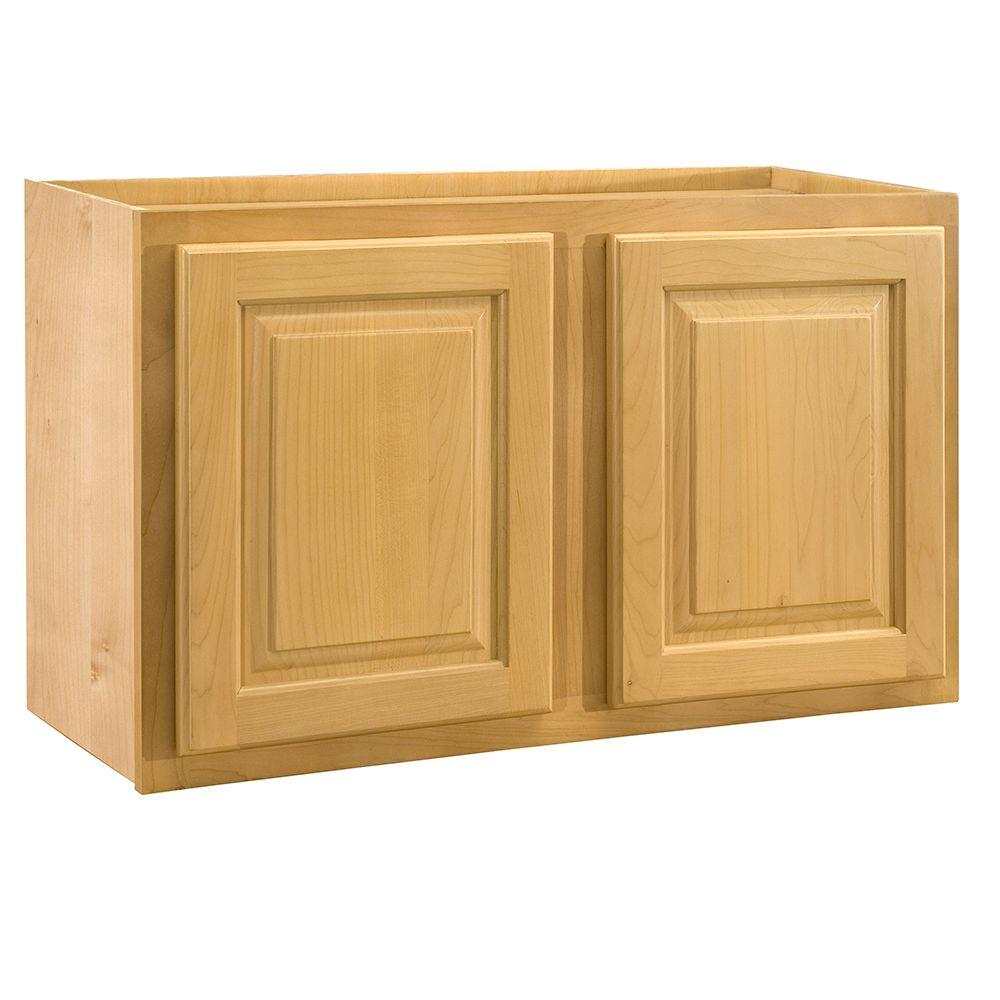 Home Decorators Collection Assembled 30x18x24 in. Wall Double Door Cabinet in Vista Honey Spice