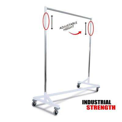 Industrial Strength Z Rack with Built-in Height Extensions - Decorative White Base - Tallest Z Rack Available!