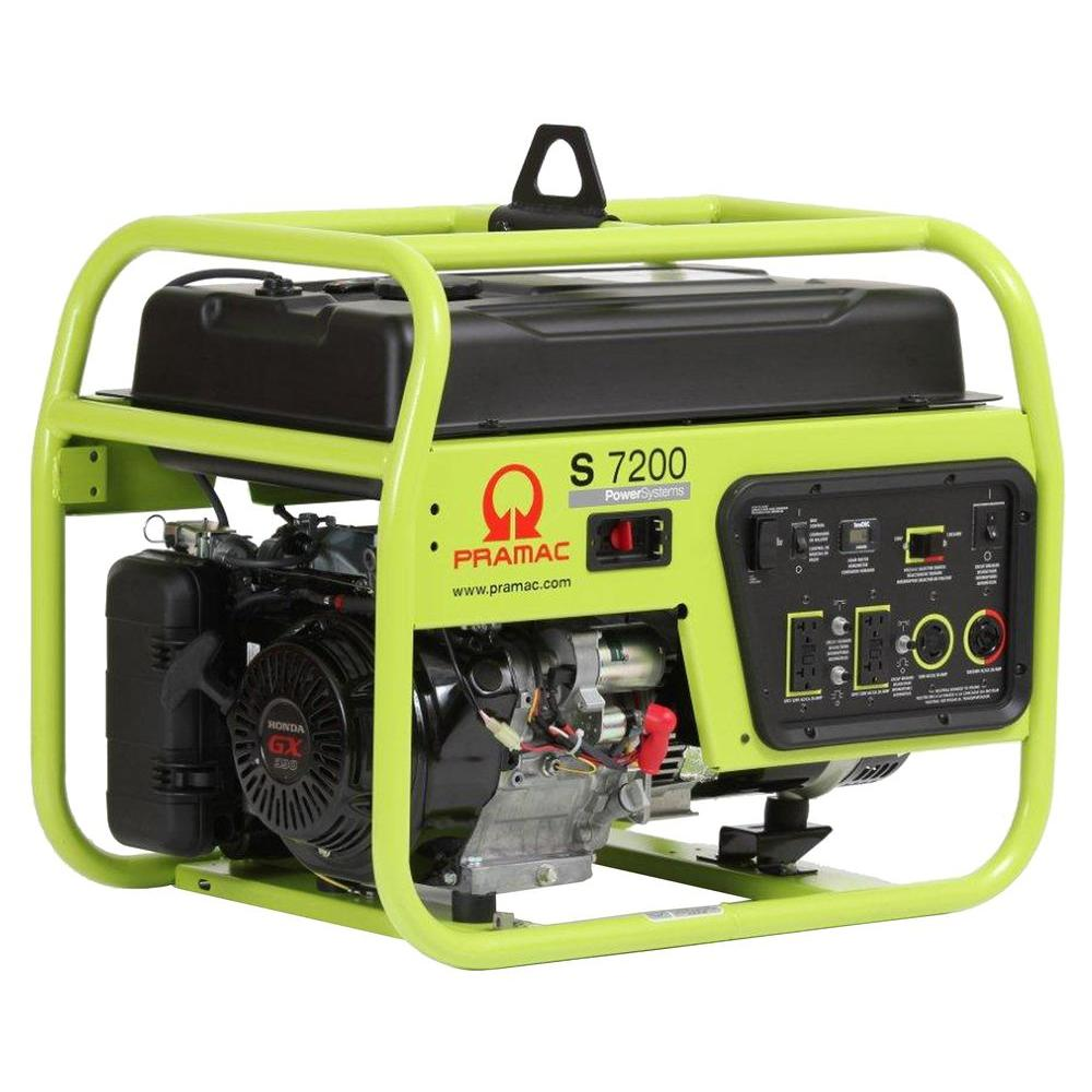 Pramac 7,200-Watt Gasoline Powered Manual Start Portable Generator with Honda GX390 Engine