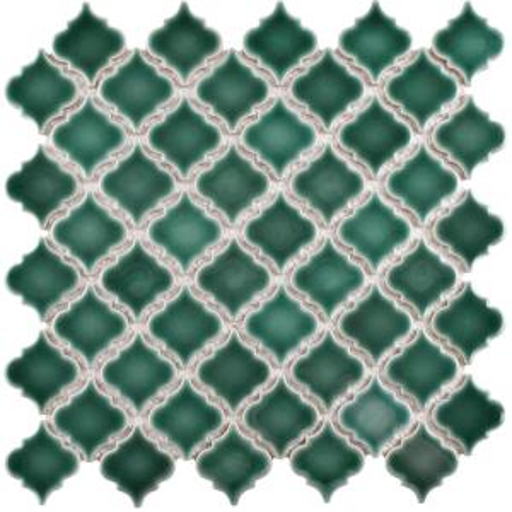 Merola Tile Hudson Tangier Emerald 12 3 8 In X 12 1 2 In