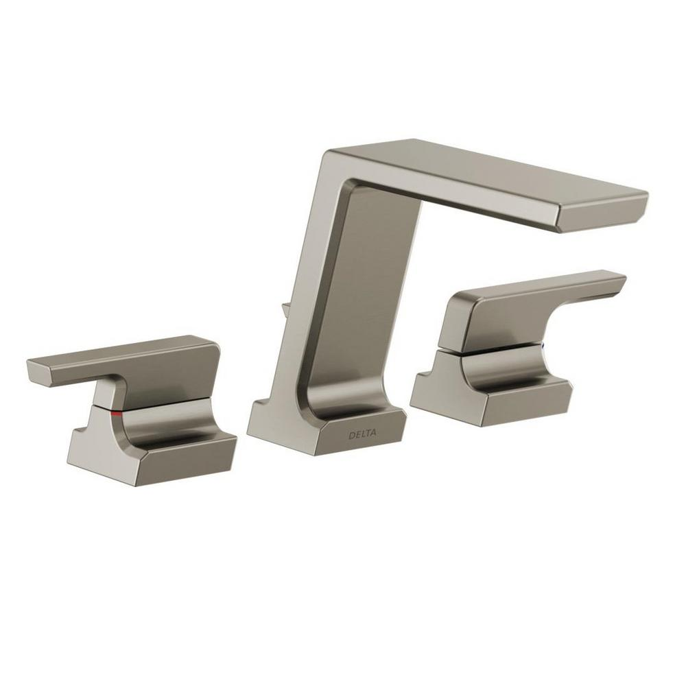 Pivotal 2-Handle Deck-Mount Roman Tub Faucet Trim Kit in Stainless (Valve