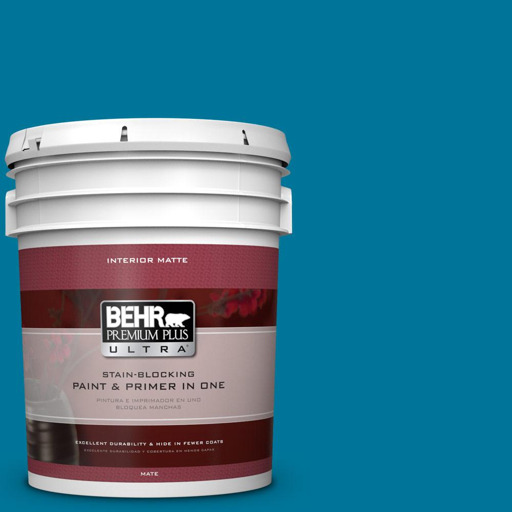 BEHR Premium Plus Ultra 5 gal. #P490-7 Mayan Treasure Matte Interior Paint