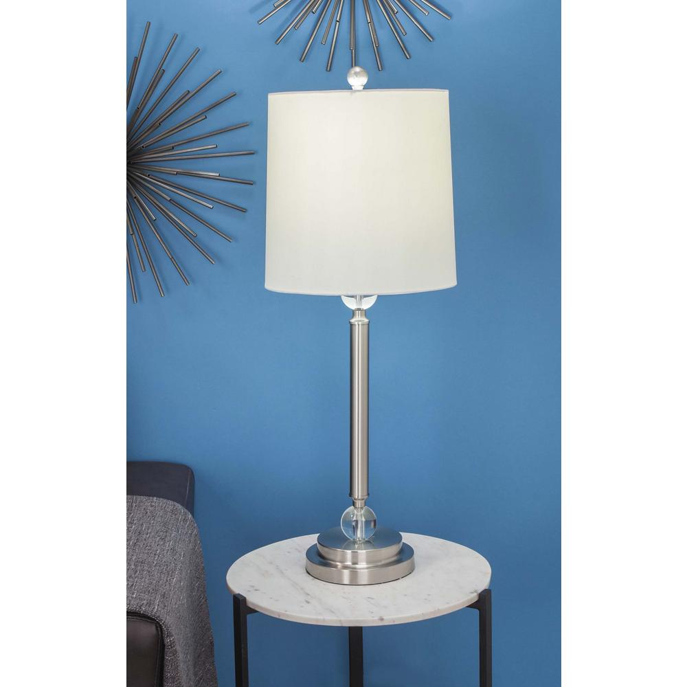Metal Shade Buffet Lamp: Lumisource 10 In. Silver Indoor Touch Table Lamp With