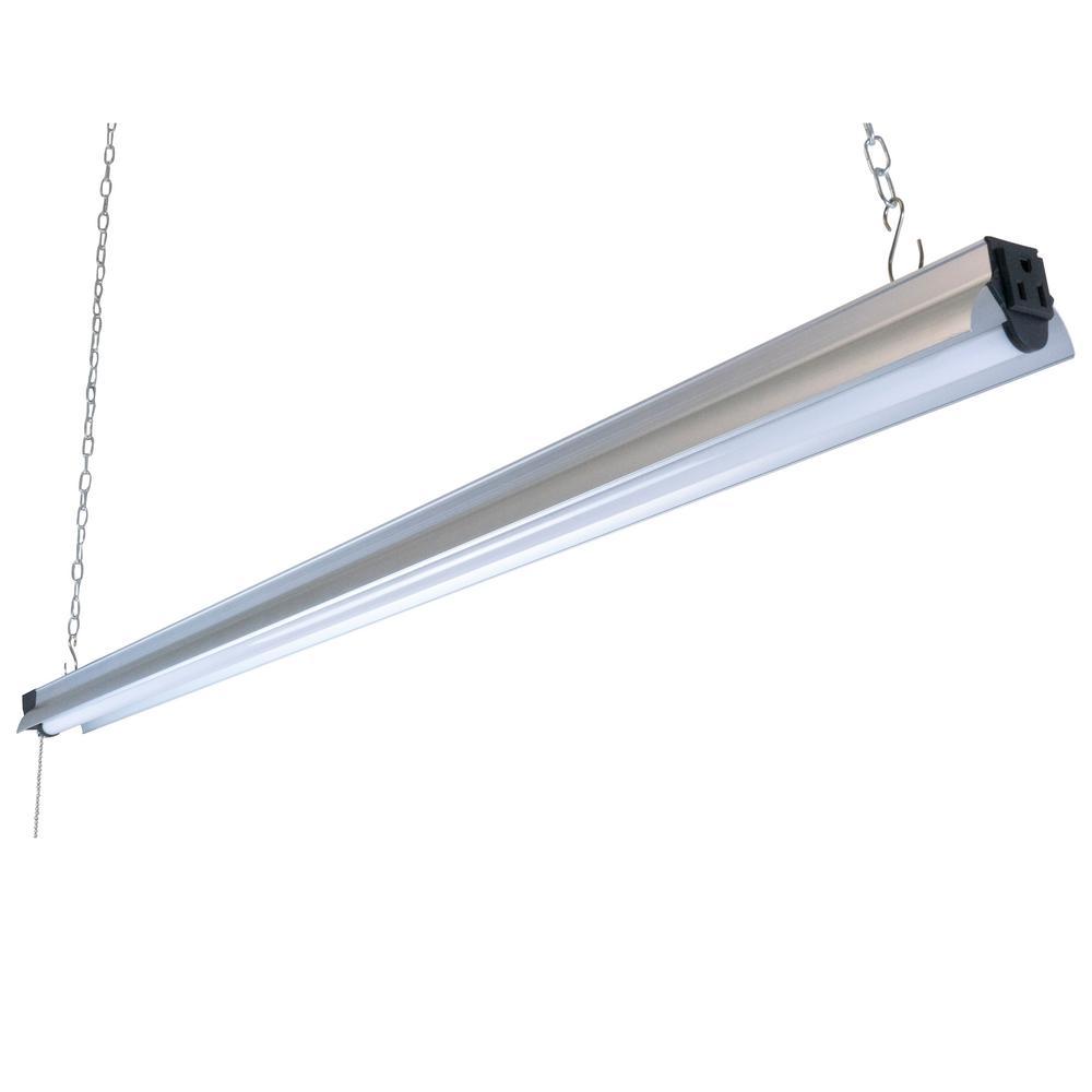 4 ft. 250-Watt Equivalent Integrated LED Silver Shop Light