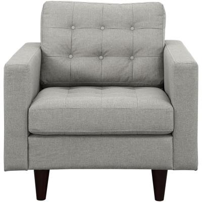 Empress Upholstered Armchair in Light Gray