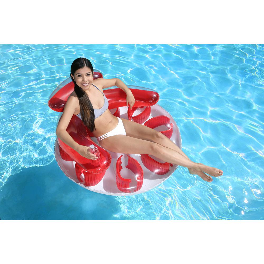 Poolmaster Red Water Pop Circular Swimming Pool Float