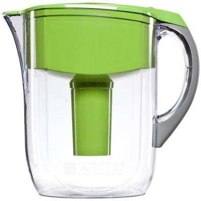 10-Cup Filtered Water Pitcher in Green