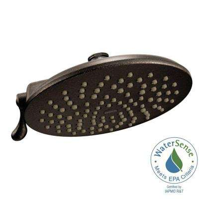Velocity 2-Spray 8 in. Eco-Performance Rainshower Showerhead Featuring Immersion in Oil Rubbed Bronze