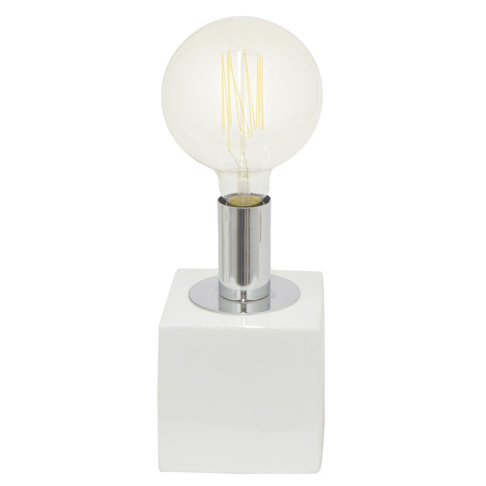 THREE HANDS White Ceramic Lamp