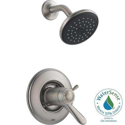 Lahara TempAssure 17T Series 1-Handle Shower Faucet Trim Kit Only in Stainless (Valve Not Included)
