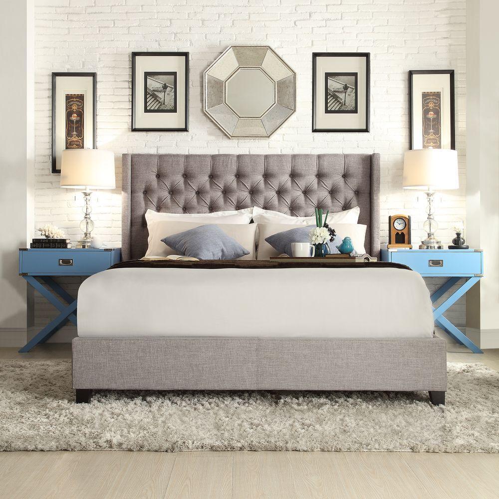 Wentworth Slate King Upholstered Bed