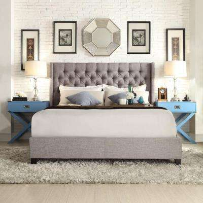 Wentworth Slate King Upholstered Bed
