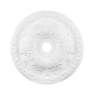 Titan Lighting 28 in. White Ceiling Medallion