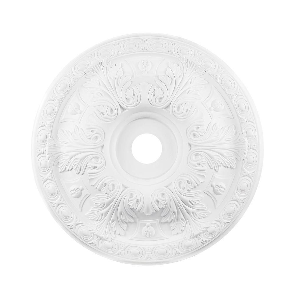 Titan Lighting 28 in. White Ceiling Medallion