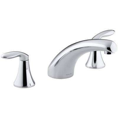 Coralais 8 in. Widespread 2-Handle Low-Arc Bathroom Faucet Trim in Polished Chrome (Valve Not Included)
