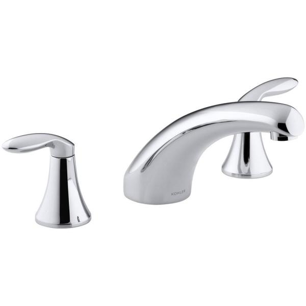 KOHLER Coralais 8 in. Widespread 2-Handle Low-Arc Bathroom Faucet Trim in Polished Chrome (Valve Not Included)