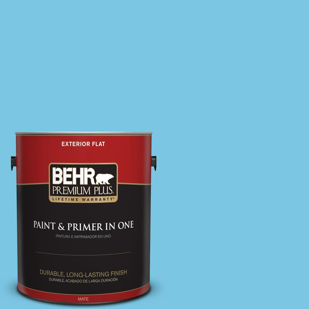 1-gal. #530B-4 Bliss Blue Flat Exterior Paint