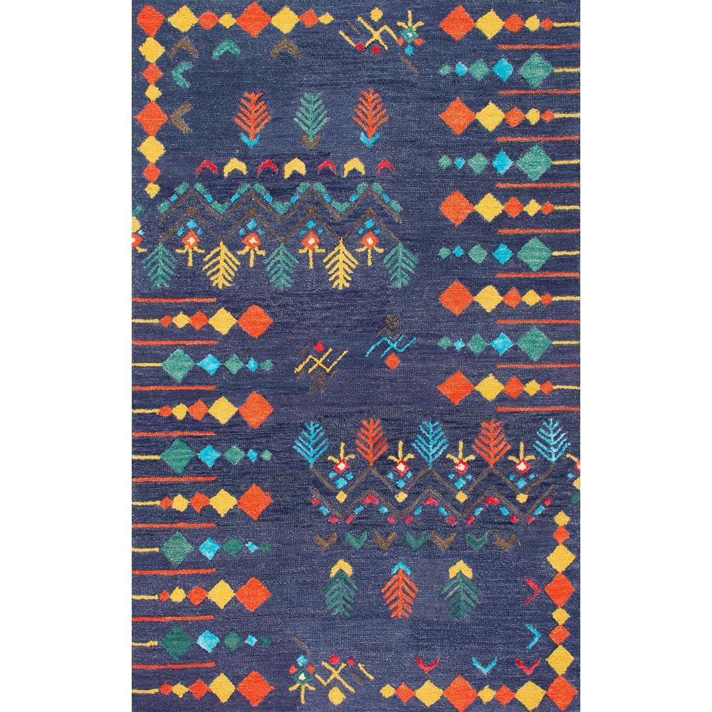 nuLOOM Gabbeh Tribal Jannet Navy (Blue) 5 ft. x 8 ft. Are...