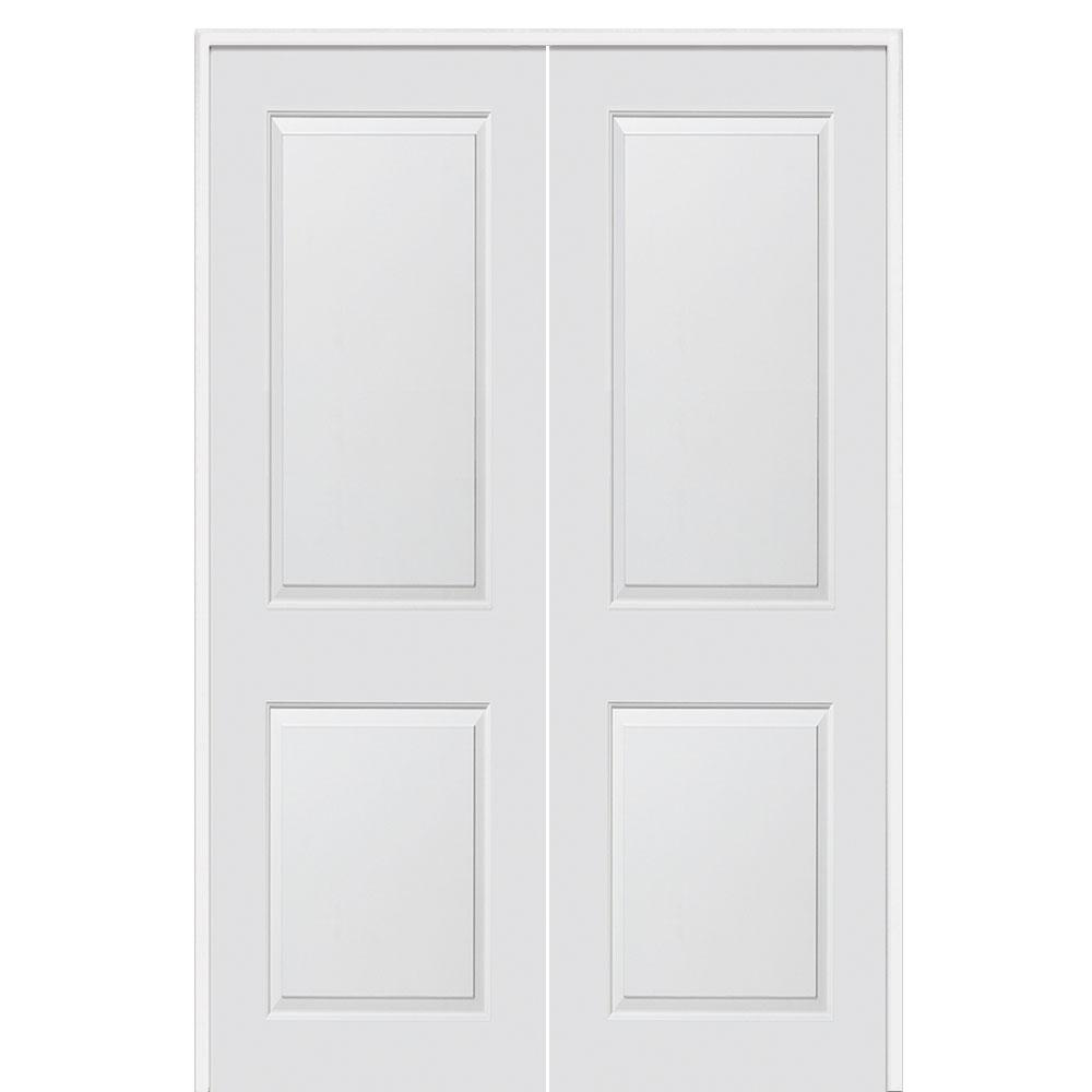 60 In. X 96 In. Smooth Carrara Both Active Solid Core Primed Molded MDF
