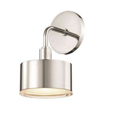 Nora 1-Light Polished Nickel LED Wall Sconce